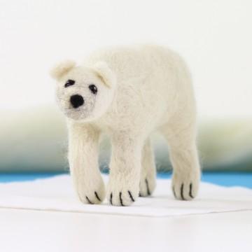 Kit de feutrage : Ours polaire