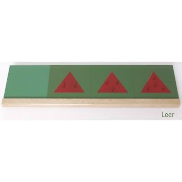 Support en bois pour les triangles fractionnés