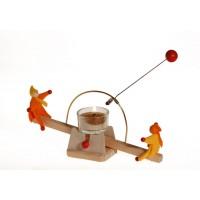 Balançoire à lumière avec poupées