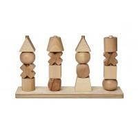 Formes sur tiges verticales bois naturel XL