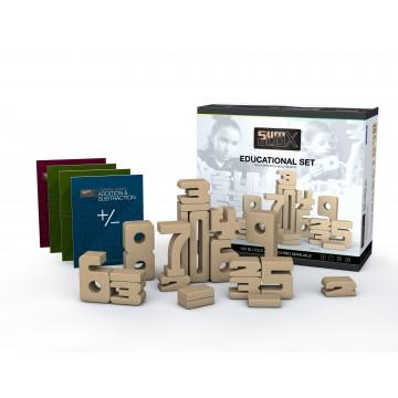 """SumBlox """"nouvelle version"""" : set école : 100 blocs + 4 livres de leçons"""