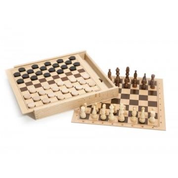 Jeux de dames et d'échecs
