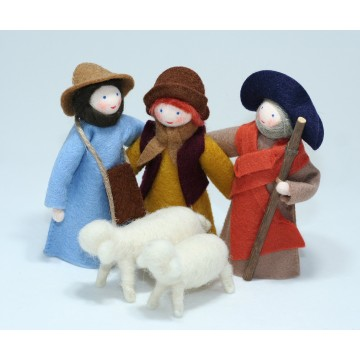 3 bergers avec deux moutons