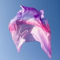 """Grand carré de soie Sarah's silk """"Fleur"""""""