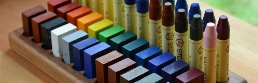 Crayons et blocs de cire