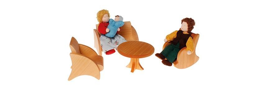 Poupées, maisons de poupées, jeux d'imitation